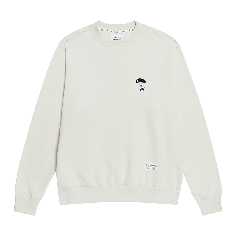 [기모]ILP SIGNATURE PARIS LOGO SWEAT-SHIRTS 2019FW CREAM
