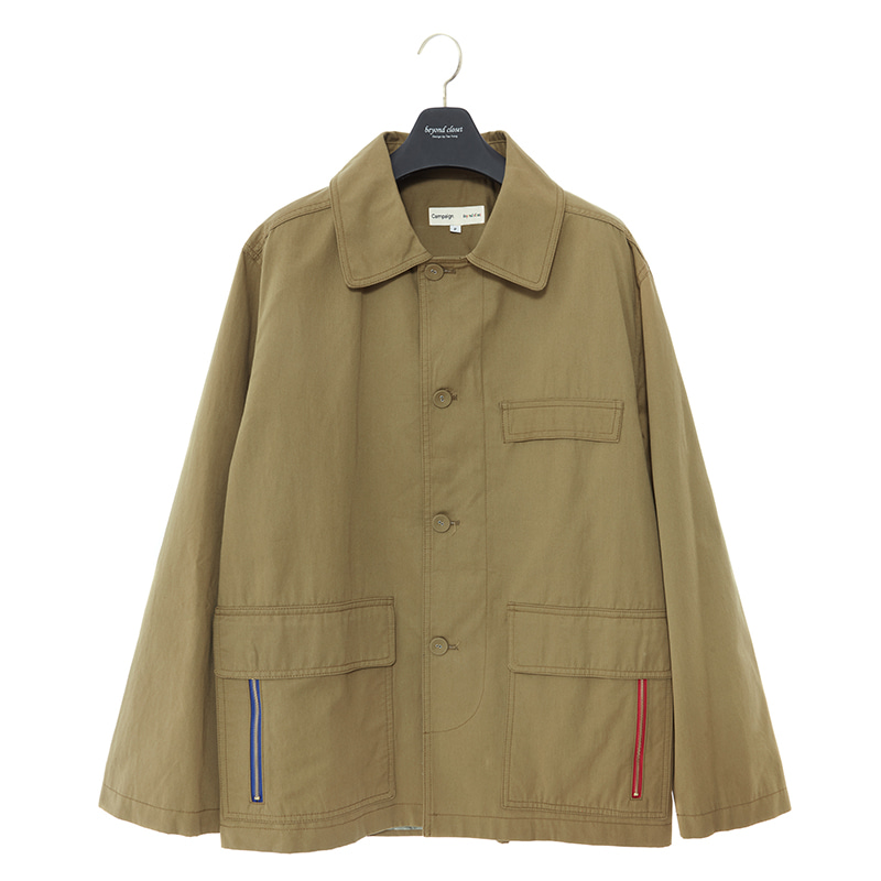 P-ZIPPER MILITARY JP KHAKI