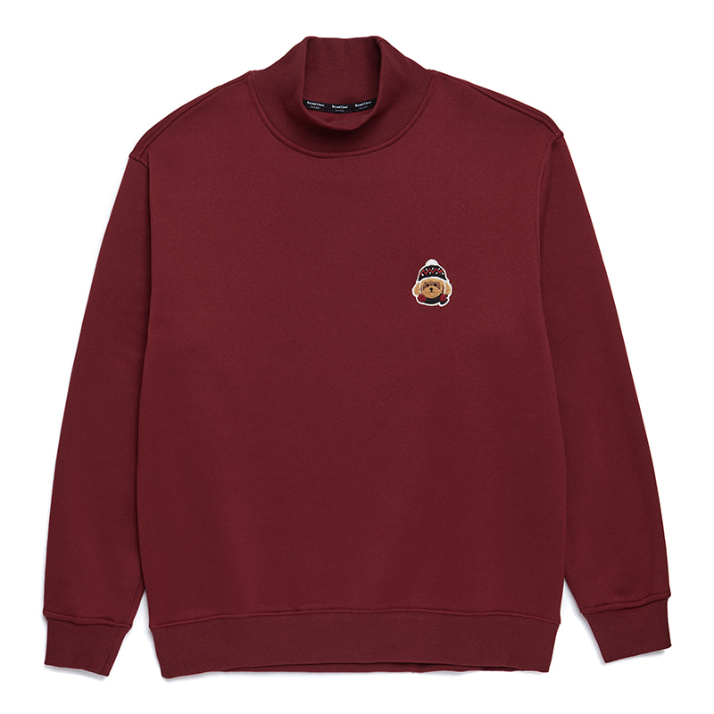[HOLIDAY EDITION]ILP W-SIGNATURE HALF TURTLE-NECK T-SHIRTS BURGUNDY