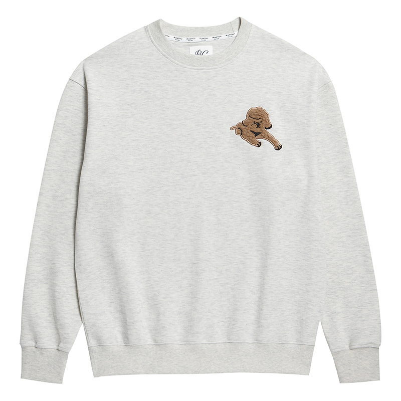ILP APPLIQUE DOG SWEAT-SHIRTS OATMEAL