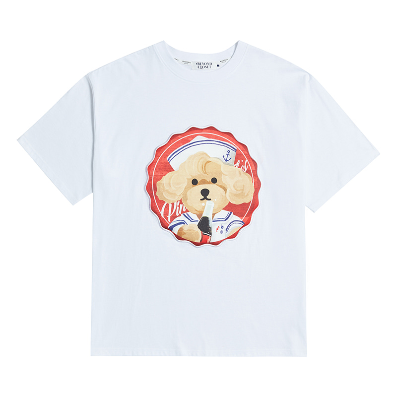 PINUP COKE DOG PATCH 1/2 T-SHIRTS 2020VER WHITE