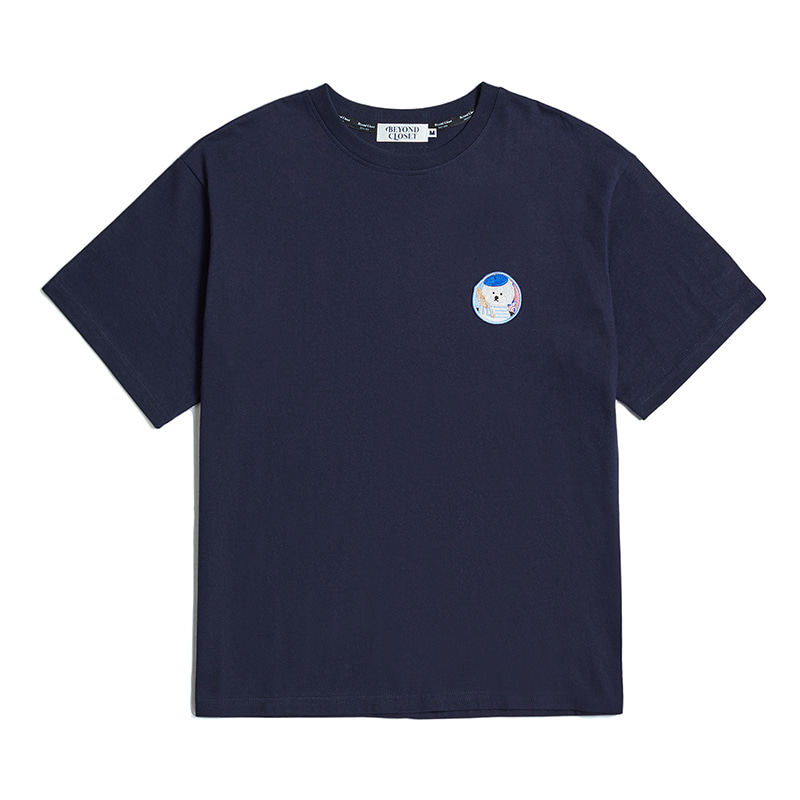 PARIS DOG WAPPEN 1/2 T-SHIRTS 2020VER NAVY