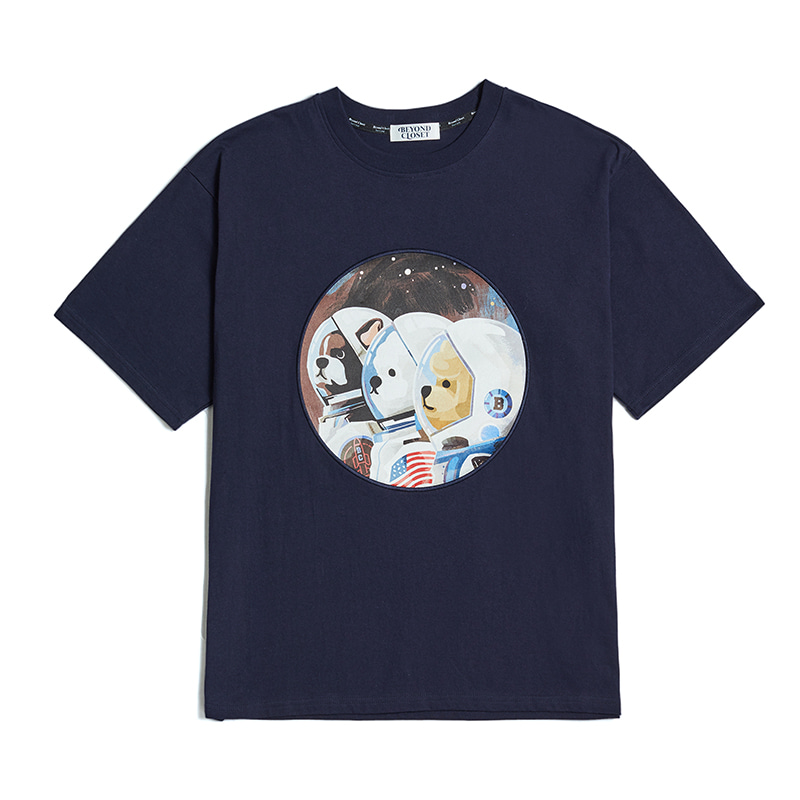 50TH EDITION APOLLO CREW 1/2 T-SHIRTS NAVY