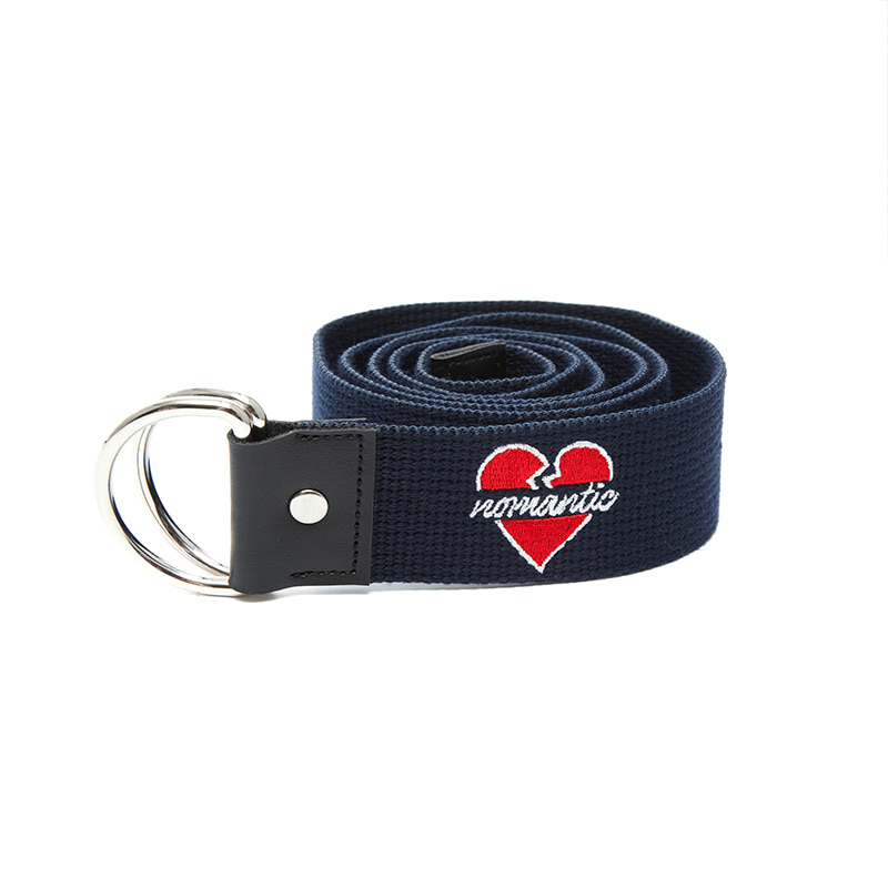 NOMANTIC LOGO RING BELT NAVY
