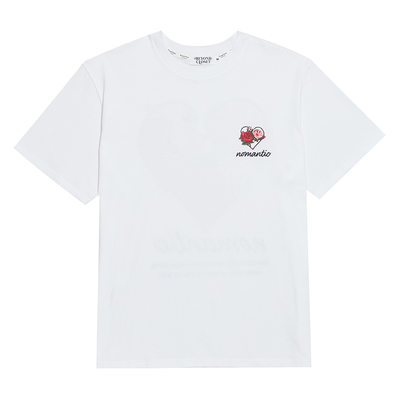 [NEW EDITION]FLOWER NOMANTIC PRINT 1/2 T-SHIRTS WHITE