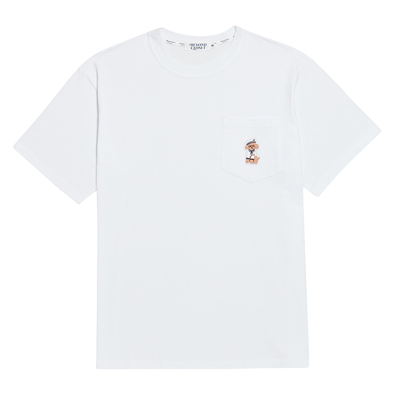 VOYAGE MARINE DOG 1/2 POCKET T-SHIRTS WHITE