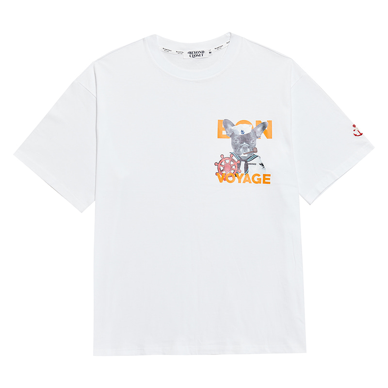VOYAGE BULLDOG 1/2 T-SHIRTS WHITE