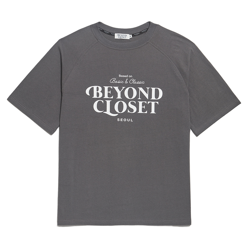 NEW LOGO WASHED COTTON 1/2 T-SHIRTS GRAY