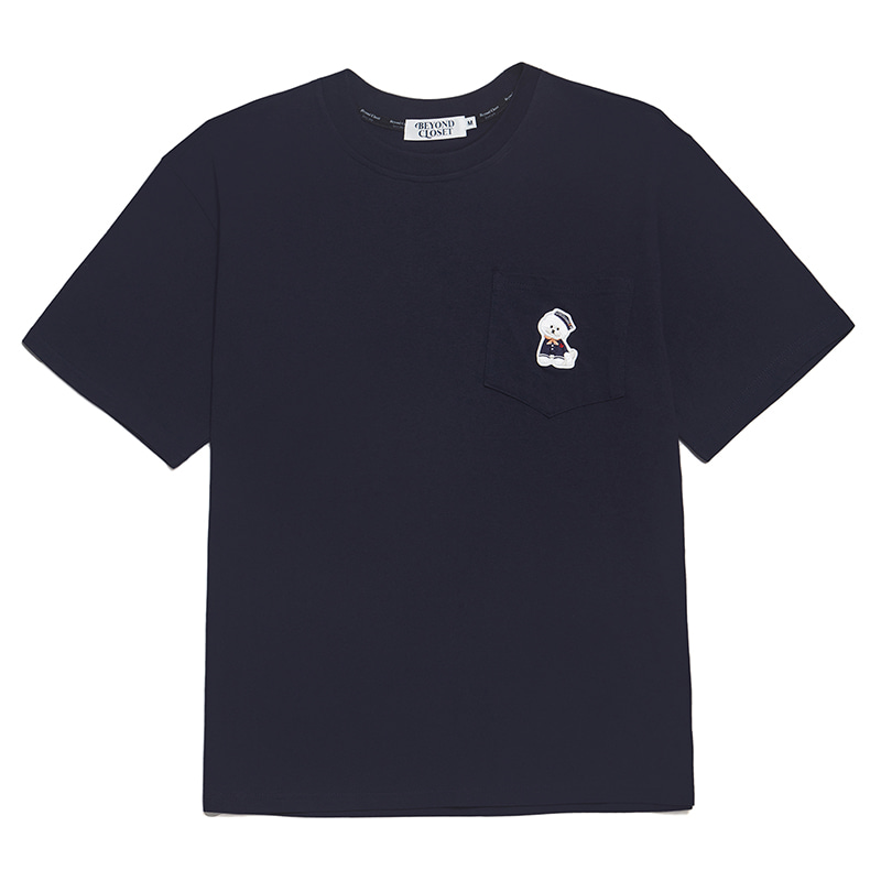 VOYAGE MARINE DOG 1/2 POCKET T-SHIRTS NAVY