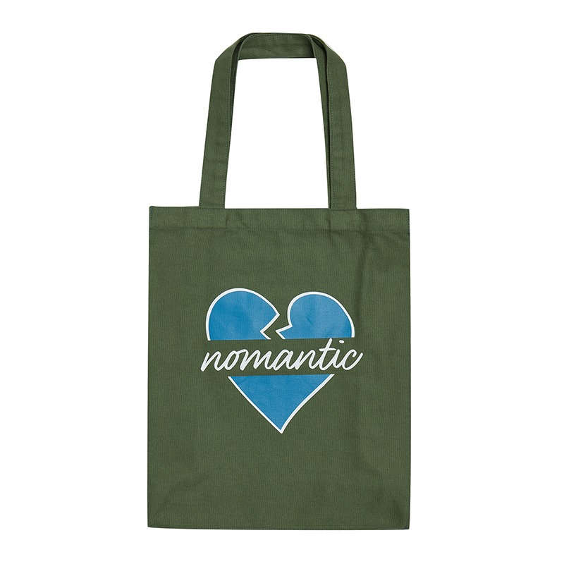 NOMANTIC PARISIEN CANVAS TOTE BAG GREEN