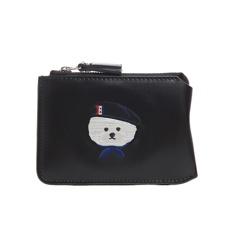 ILP SIGNATURE PARIS LOGO COIN WALLET BLACK