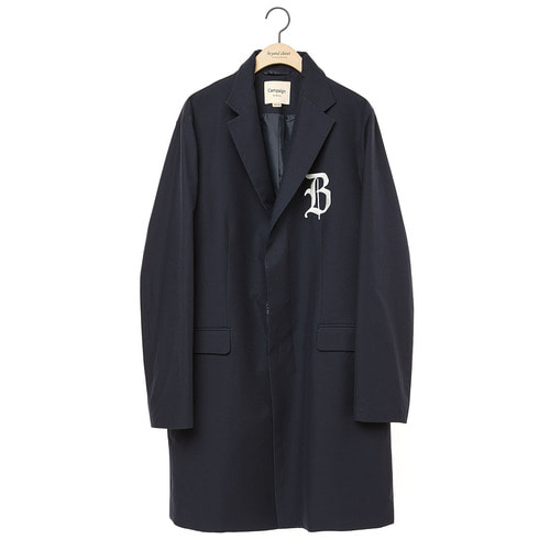 LOGO HIDDEN DETAIL CLASSIC SINGLE COAT NAVY